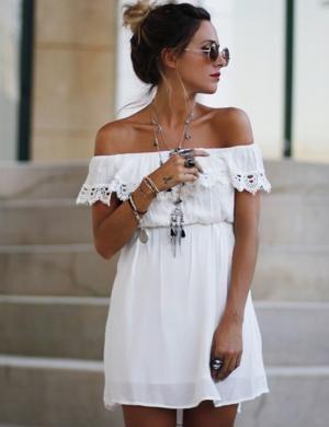 vestido blanco6 - 15 Vestidos Blancos Que Son Perfectos Para El Verano
