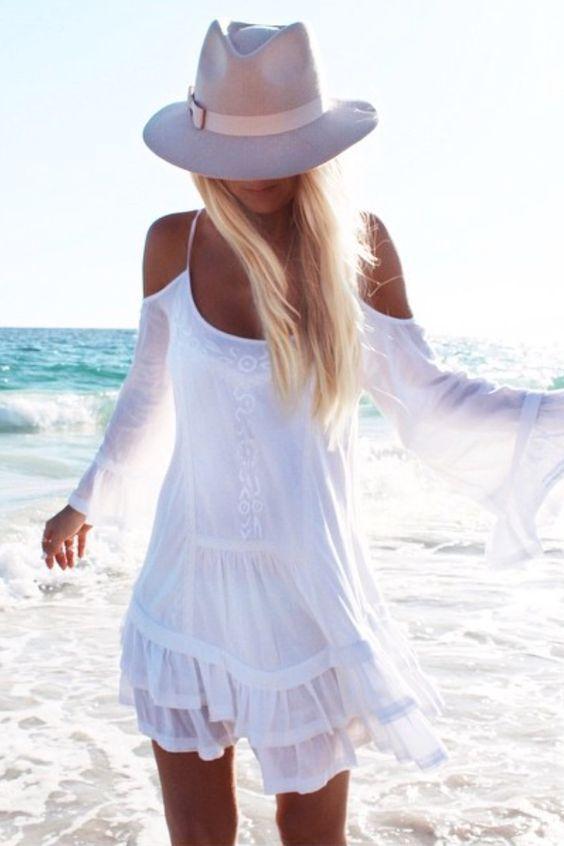 vestido blanco8 - 15 Vestidos Blancos Que Son Perfectos Para El Verano