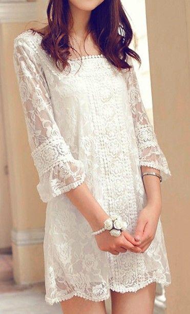 vestido blanco9 - 15 Vestidos Blancos Que Son Perfectos Para El Verano