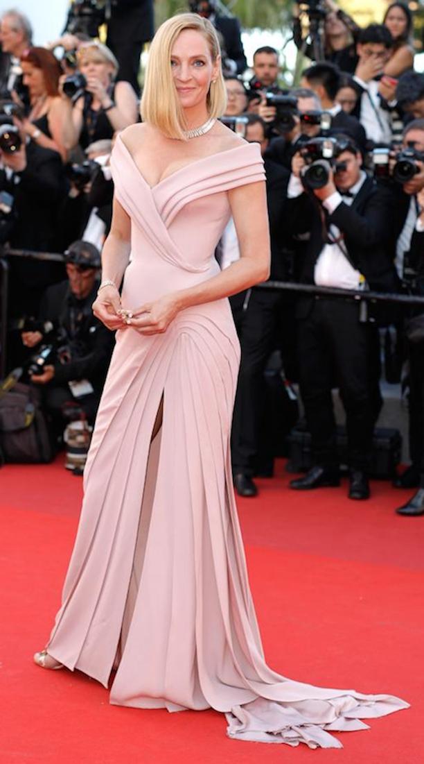 vestido claro elegante copia - Los Vestidos Mas Hermosos De Cannes 2017