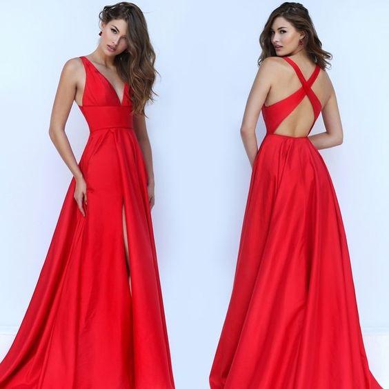vestido rojo graduacion - 12 Vestidos De Graduación Que Desearas Tener