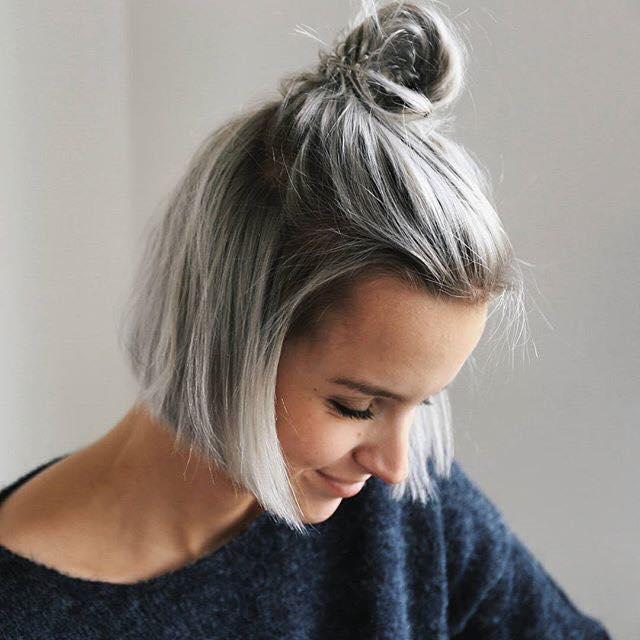 cabello corto gris1 1 - Fotos Que Te Convencerán Para Teñir Tu Cabello De Gris