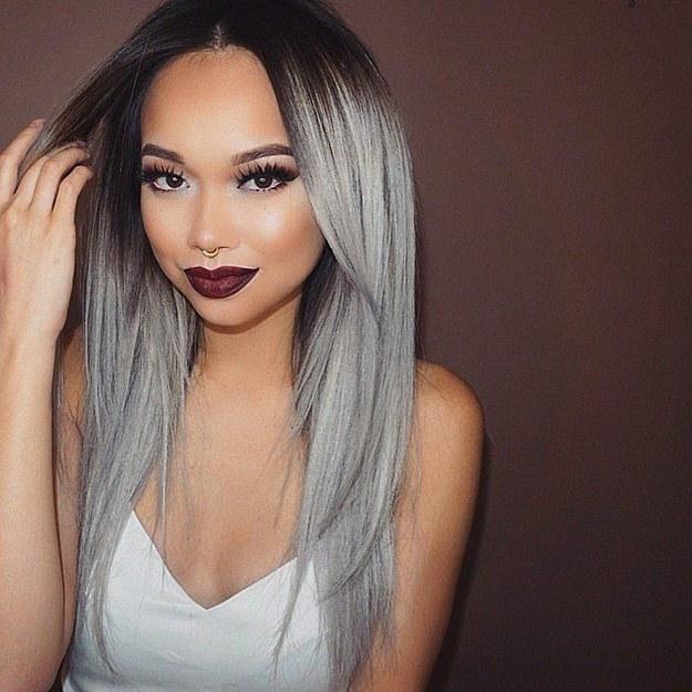 cabello gris1 - Fotos Que Te Convencerán Para Teñir Tu Cabello De Gris