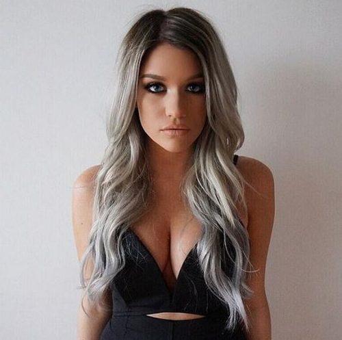 cabello gris2 - Fotos Que Te Convencerán Para Teñir Tu Cabello De Gris