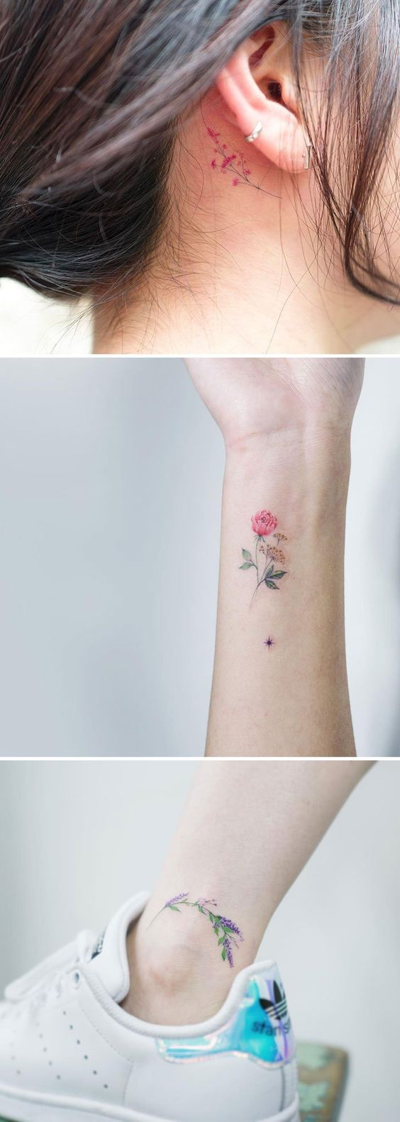 tatuaje flor5 - Pequeños Y Hermosos Tatuajes De Flores Para Mujer