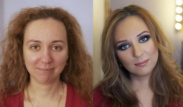 transformacion maquillaje1 - Pruebas De Que El Maquillaje Tiene Un Gran Poder