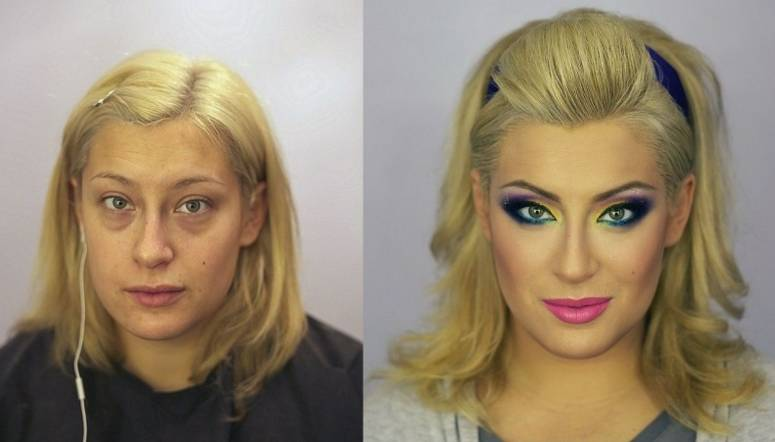transformacion maquillaje4 - Pruebas De Que El Maquillaje Tiene Un Gran Poder