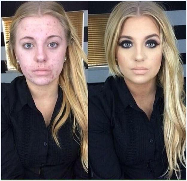 transformacion maquillaje5 - Pruebas De Que El Maquillaje Tiene Un Gran Poder