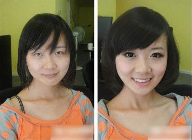 transformacion maquillaje7 - Pruebas De Que El Maquillaje Tiene Un Gran Poder