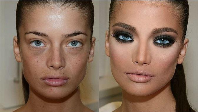 transformacion maquillaje8 - Pruebas De Que El Maquillaje Tiene Un Gran Poder