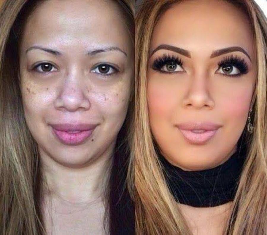 transformacion maquillaje9 - Pruebas De Que El Maquillaje Tiene Un Gran Poder