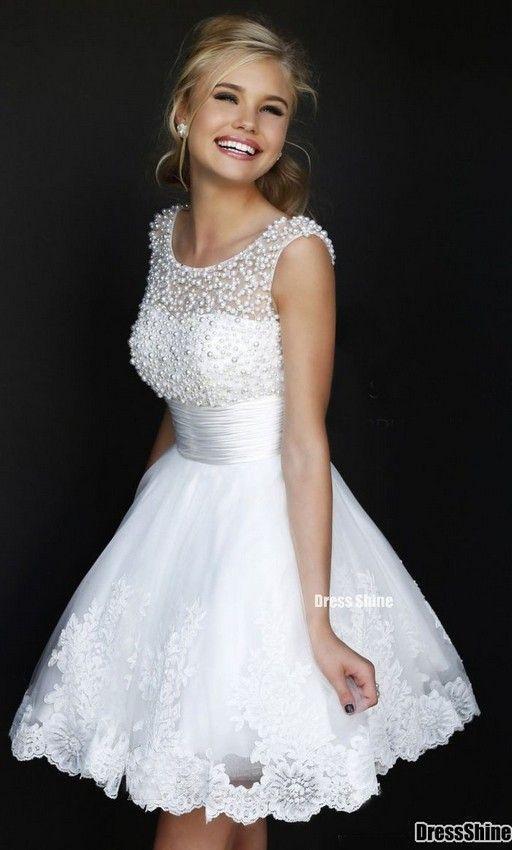 vestido novia corto1 - Vestidos De Novia Cortos Que Te Encantaran