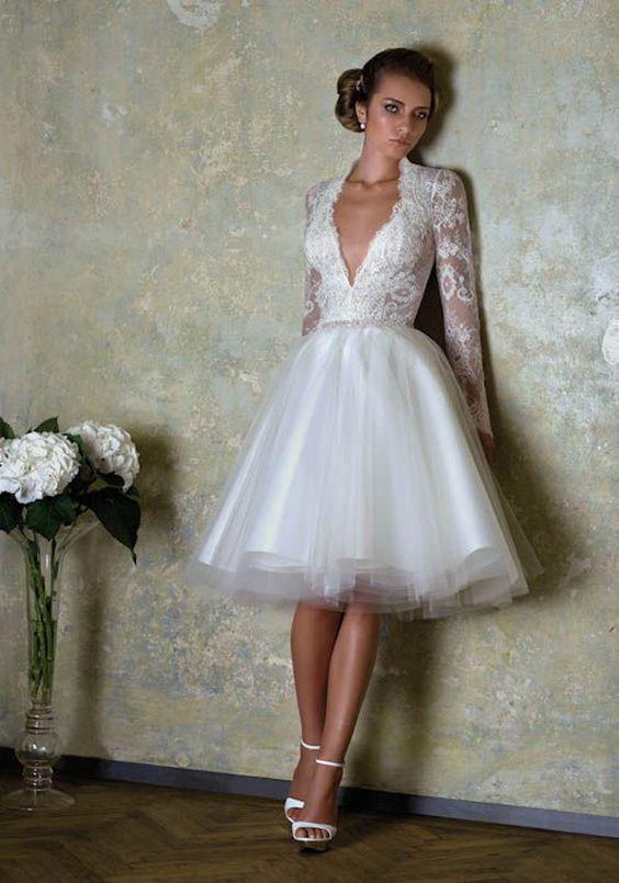 Vestidos De Novia Cortos Que Te Encantaran La Moda Es