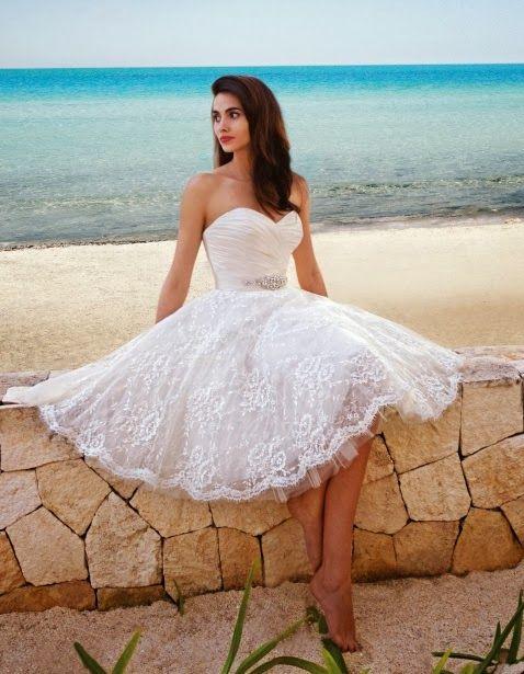 vestido novia corto11 - Vestidos De Novia Cortos Que Te Encantaran