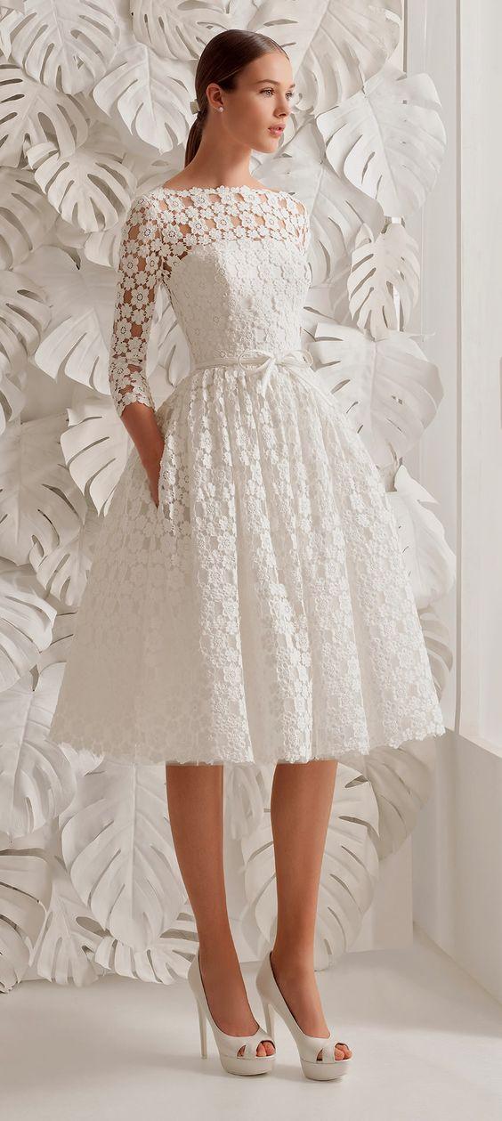 vestido novia corto2 - Vestidos De Novia Cortos Que Te Encantaran