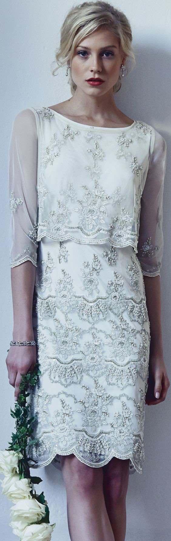 vestido novia corto3 - Vestidos De Novia Cortos Que Te Encantaran