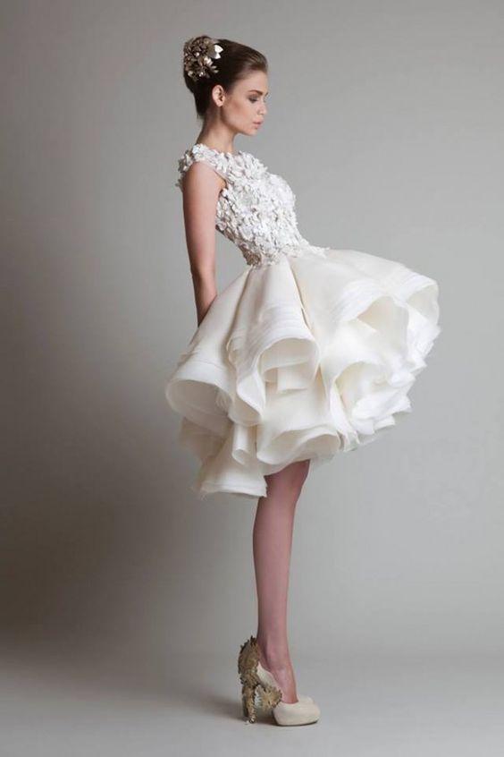 vestido novia corto4 - Vestidos De Novia Cortos Que Te Encantaran