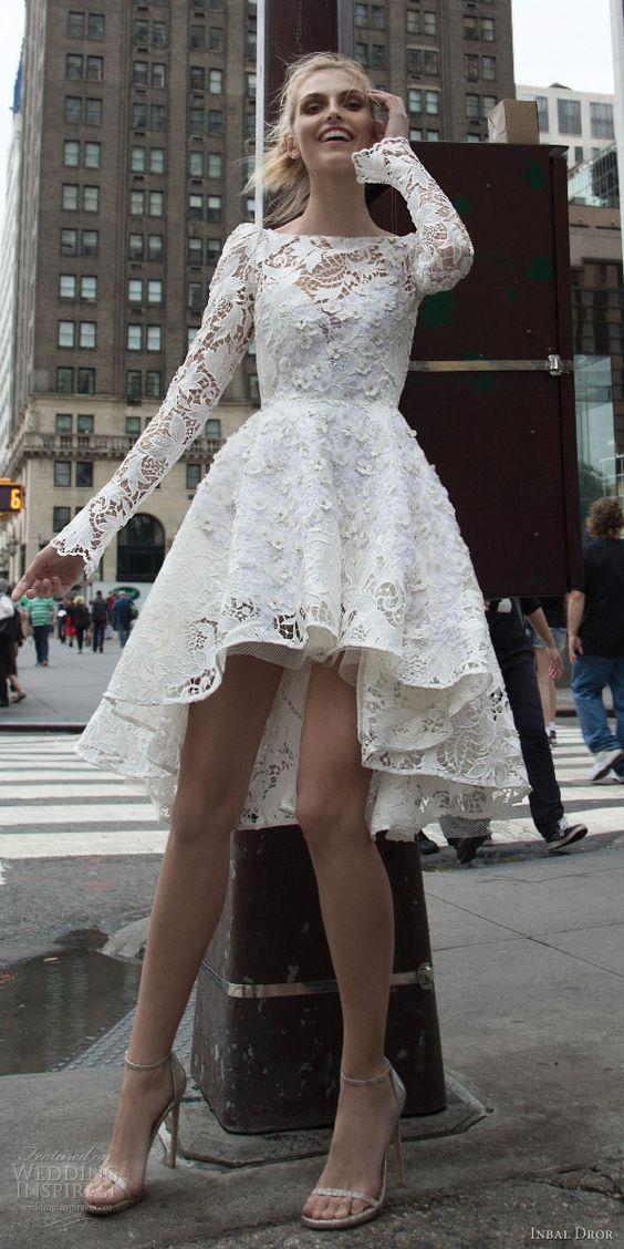 vestido novia corto5 - Vestidos De Novia Cortos Que Te Encantaran