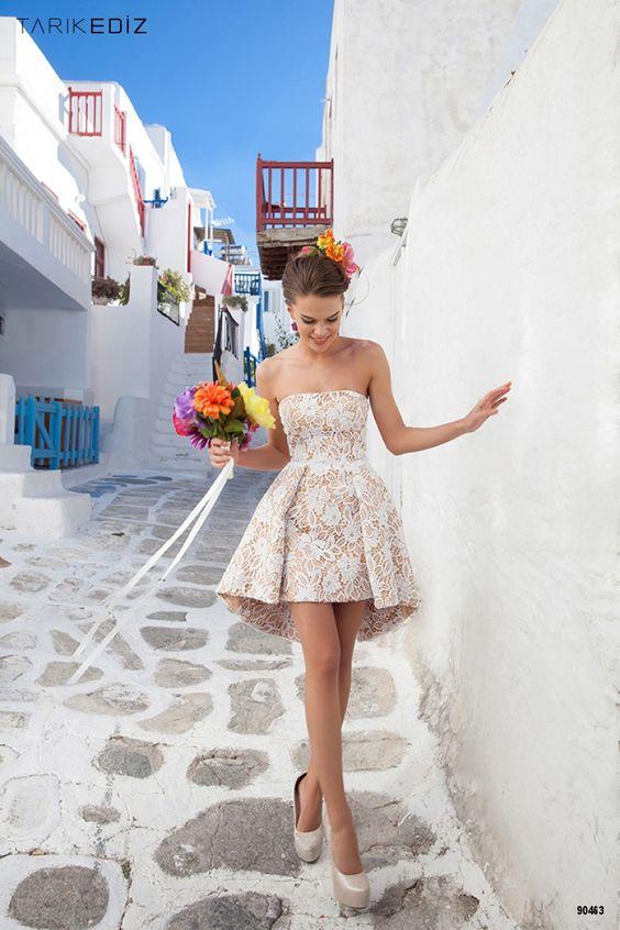 vestido novia corto6 - Vestidos De Novia Cortos Que Te Encantaran