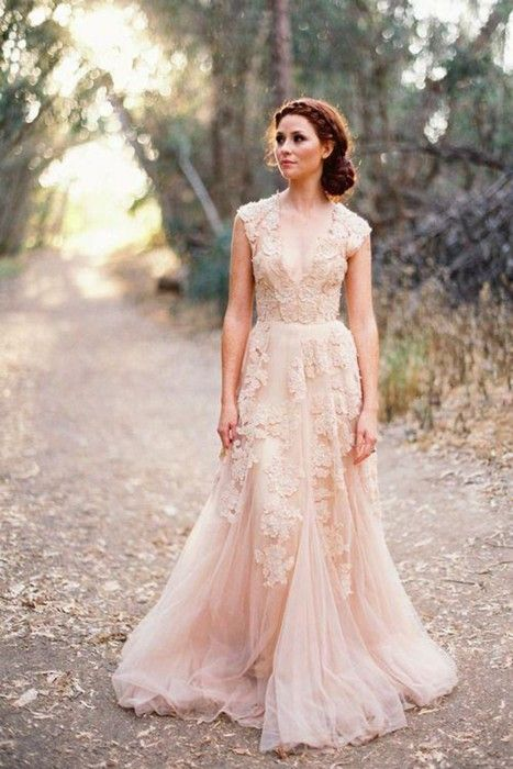 vestidos de novia de colores11 - Hermosos Vestidos De Novia De Colores Que Amaras