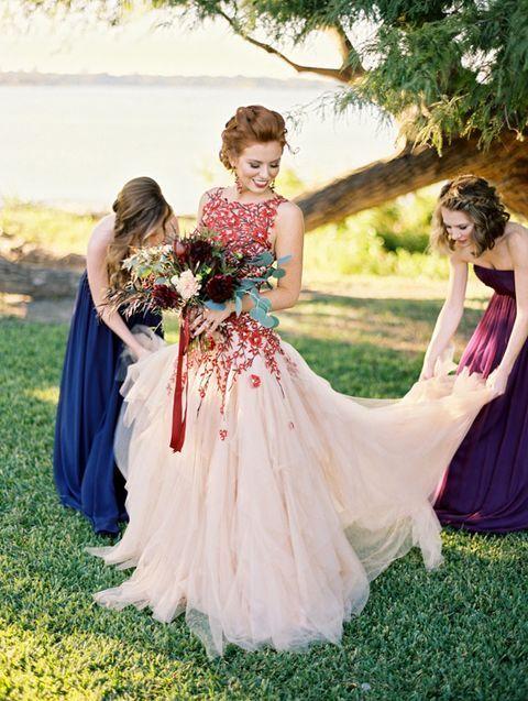 vestidos de novia de colores5 - Hermosos Vestidos De Novia De Colores Que Amaras