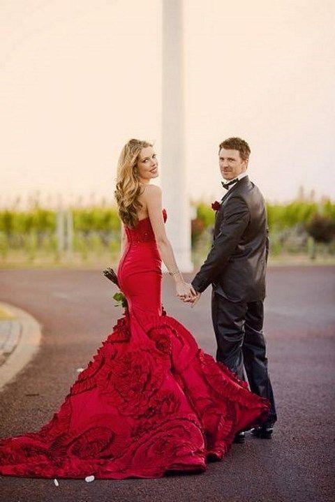vestidos de novia de colores6 - Hermosos Vestidos De Novia De Colores Que Amaras