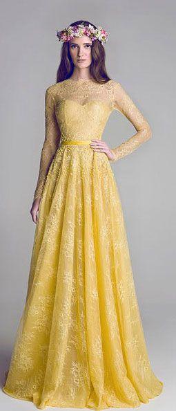 vestidos de novia de colores9 1 - Hermosos Vestidos De Novia De Colores Que Amaras