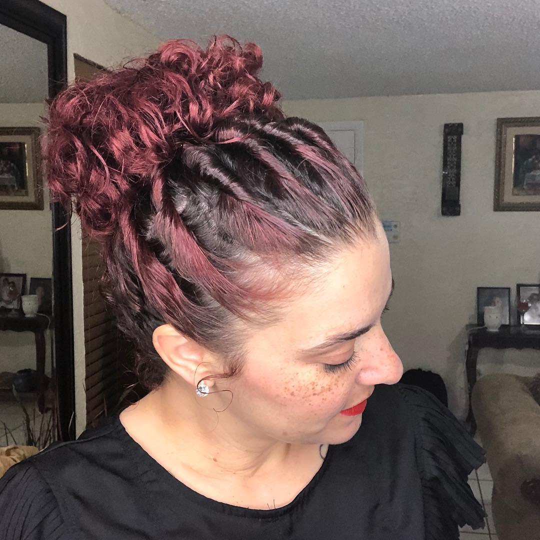 1612586160 238 Peinados faciles para el cabello rizado 20 mega ideas increibles - Peinados fáciles para el cabello rizado: 20 mega ideas increíbles
