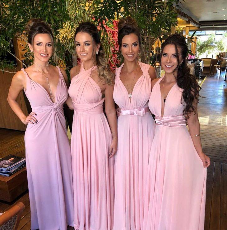 1613158068 689 32 inspiraciones de vestidos de oro rosa llenas de elegancia - 32 Inspiradores vestidos rosas llenos de elegancia y estilo
