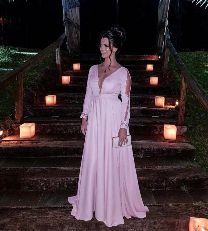 1613158073 506 32 inspiraciones de vestidos de oro rosa llenas de elegancia - 32 Inspiradores vestidos rosas llenos de elegancia y estilo