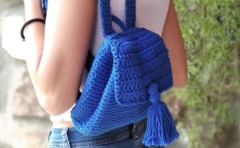 40 inspiraciones increíbles para que uses la mochila de crochet